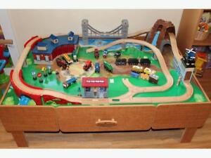 Train Set with Table with 2 sets of Tracks plus all Accessories.