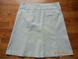 LADIES REITMANS LIGHT GREY COMFORT FIT A-LINE SKIRT SIZE 13