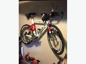 Argon18 E112, SRM, ZIPP808 triathlon bike