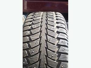 Like new 205/55/16 studded winter tires