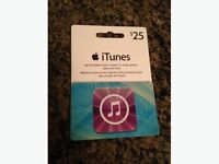 iTunes gift card $25!!