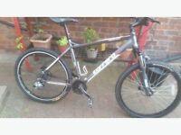 carrera gray mint condition top spec mountain bike
