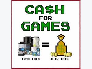 Get CASH For Your Used Games, Consoles, and Accessories! Retro/vintage, next-gen! Gamecube, Gameboy, Wii, DS, Atari!