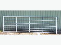 12ft Galvanised Steel 7 Bar Field Gate
