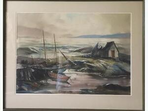 Canadian Artist Joseph Purcell 1981Watercolour original painting
