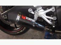 ### Scorpion Carbon Fibre Exhaust ### R125