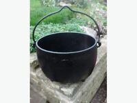 Old Iron Pot Planter