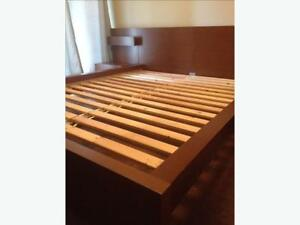 DELIVERY DOUBLE IKEA BED & BEDSIDE TABLE