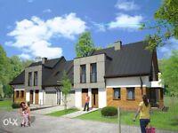 New build semi detached house with garage in central Poland (Sandomierz)