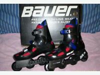 MADE BY CCM BAUER INLINE MENS 9-1/2 ROLLER BLADES (***MONTREAL)