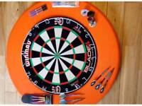 Dart board and accessories as new