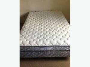 Queen size mattress/box spring and metal frame