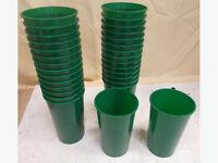 30 Green Plastic Vase Inserts