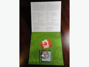 $25 Fine Silver Coin: 50th Anniversary of the Canadian Flag