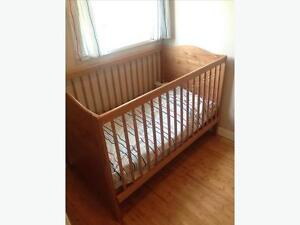 IKEA Convertible Crib/Toddler bed and 2-in-1 Mattress