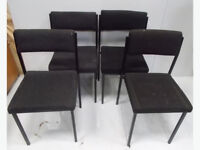 4 Grey Simular Office Chairs, Stackable