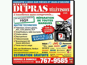 Montreal Tv service and Repair Center Dupras Television