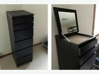 IKEA malm 6 drawer chest with built in mirror