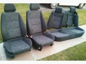 Vauxhall Vectra SRI seats.