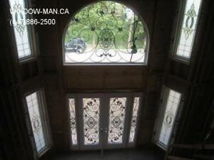 Iron Entrance Front Glass Entry Door  Factory Direct