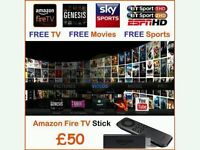 Amazon firestick fully loaded with Kodi. 1000's films, sports, TV. No subscription. Auto updates