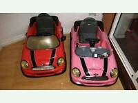 Two Mini Battery Powered CARS