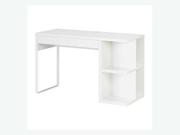 Ikea Micke Desk White With Drawer And Integrated Shelves