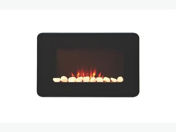 BLACK REMOTE CONTROL WALL-MOUNTED ELECTRIC FIRE BRAND NEW