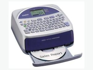 CASIO THERMAL DISC TITLE PRINTER WITH QWERTY KEYBOARD