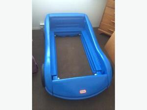 Twin size race car bed - $75