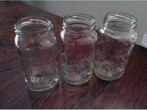 Canning Jars/Sealers. 650ml  $3/dozen.