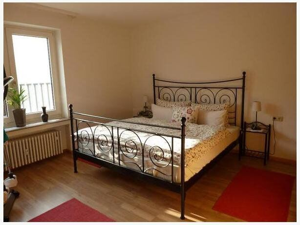 Ikea Noresund Queen Size Black Metal Frame Bed In Earls Court