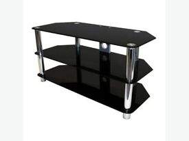 Glass T.V. stand (Black) Suitable for up to 52 inch T.V.
