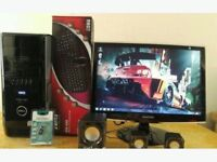 """Fast SSD Dell XPS 430 Quad Core Gaming Desktop Computer PC With Samsung 22"""""""