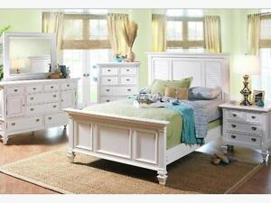 BLOWOUT SALE 7 PC White Brand New Bed Room Suite (UPTO 50% off)
