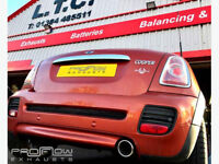 Mini Cooper Proflow Exhausts Stainless Steel Back Box Delete