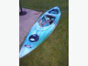 Two Pelican Odyssey 100X Kayakswith Paddle