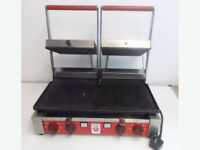 ITAL CCG2JR Double Contact Grills Ribbed
