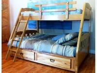 SINGLE OVER DOUBLE BUNK BEDS **DELIVERY AVAILABLE**