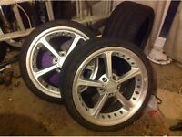 4 x 19 inch bmw ac schnitzer e90 e92 e60 alloy wheels and tyres
