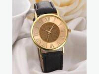 Fashion Womens Glitter Leather Band Wrist Watch