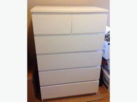 IKEA MALM WHITE DRAWERS 6