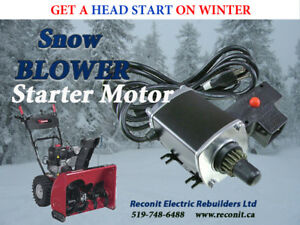 No more pulling.  Snowblower Motors  - New