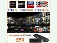 AMAZON FIRESTICK ✔ FULLY LOADED ✔ LATEST KODI ✔ FULL SKY TV ✔ 3PM KICK OFFS ✔ FREE UPDATES