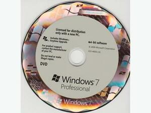 Windows 7 Professional DVD and genuine key, activation online