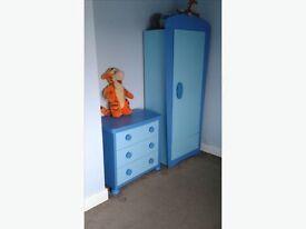 Blue IKEA wardrobe