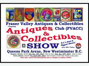 FVACC Antiques & Collectibles Show Fri/Sat/Sun Apr 28-30th 2017