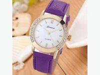 Fashion Womens Diamond Quartz Wrist Watch