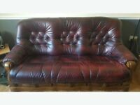 OXBLOOD RED LEATHER 3+1 sofa set / delivery /