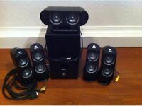 Logitech X-530 - PC multimedia home theatre speaker system in full working condition